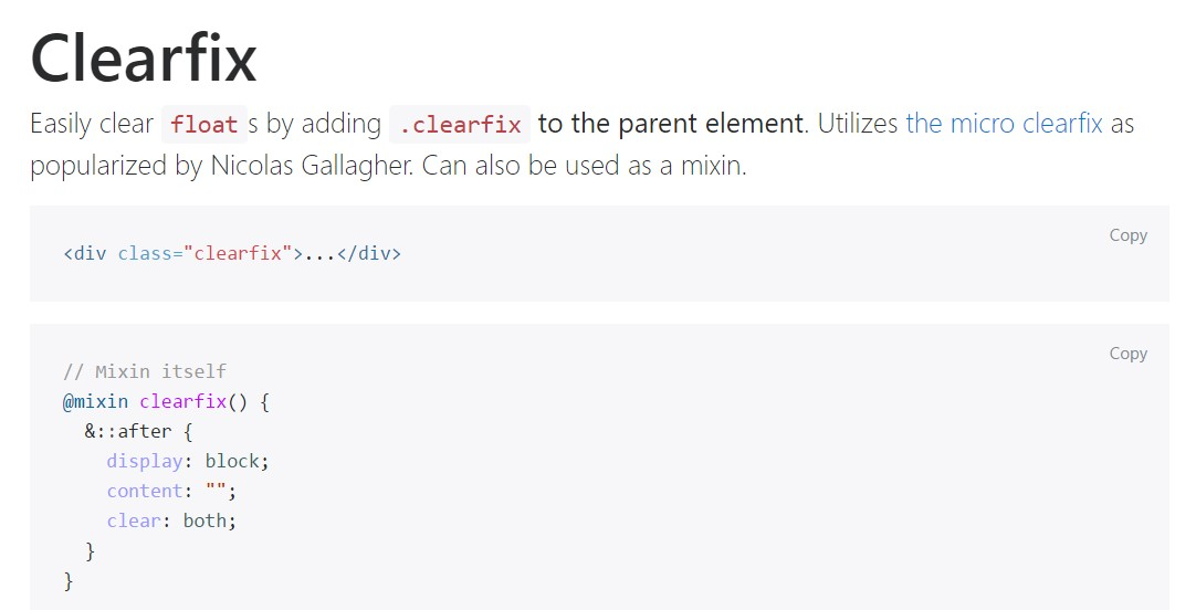 Bootstrap clearfix  formal  information