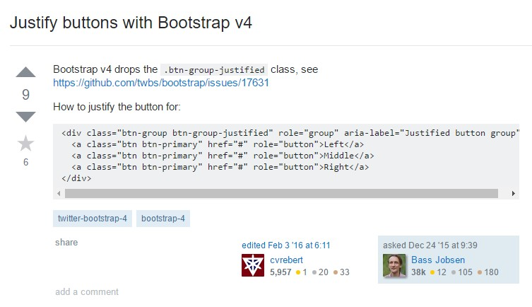 Support buttons  along with Bootstrap v4