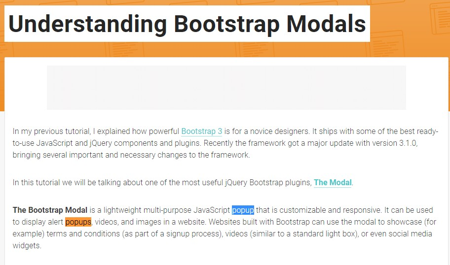 One more  handy  post  relating to Bootstrap Modal Popup