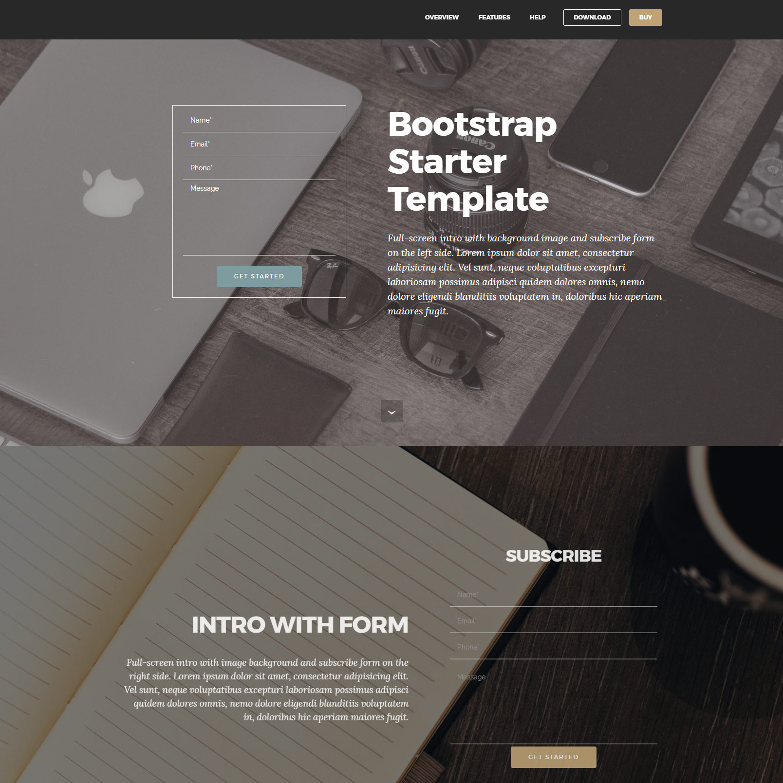 Free Download Bootstrap Starter Themes
