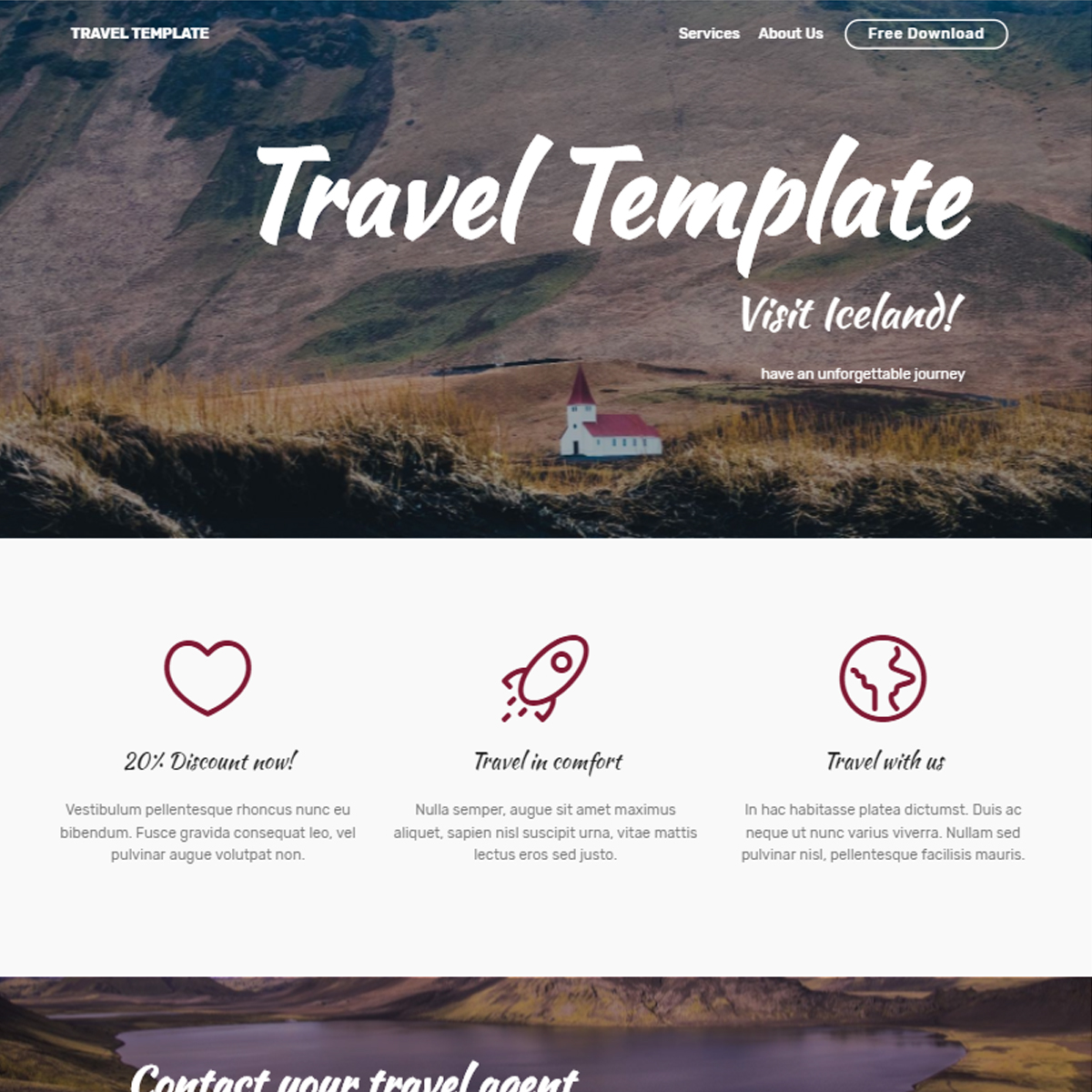 HTML Bootstrap Travel Themes