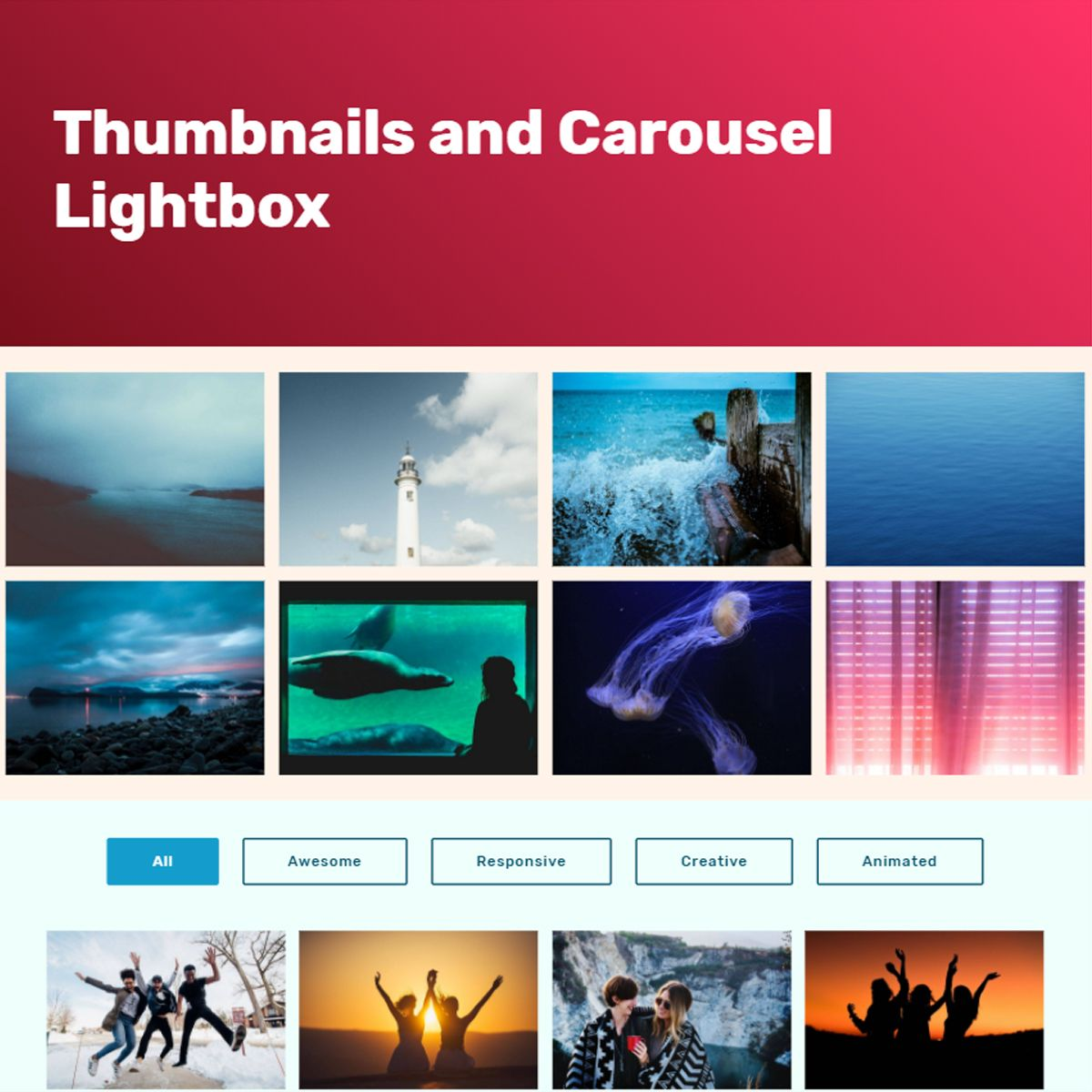 HTML5 Bootstrap Illustration Slideshow